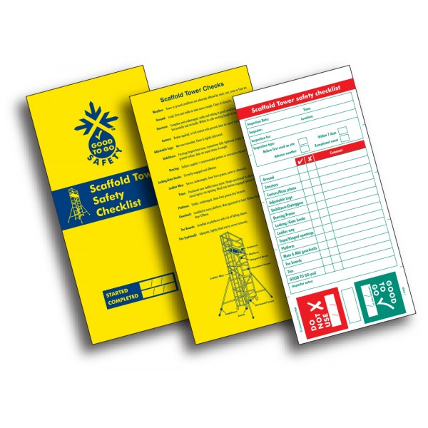 Good to Go Safety™ Scaffold Towers Check Book