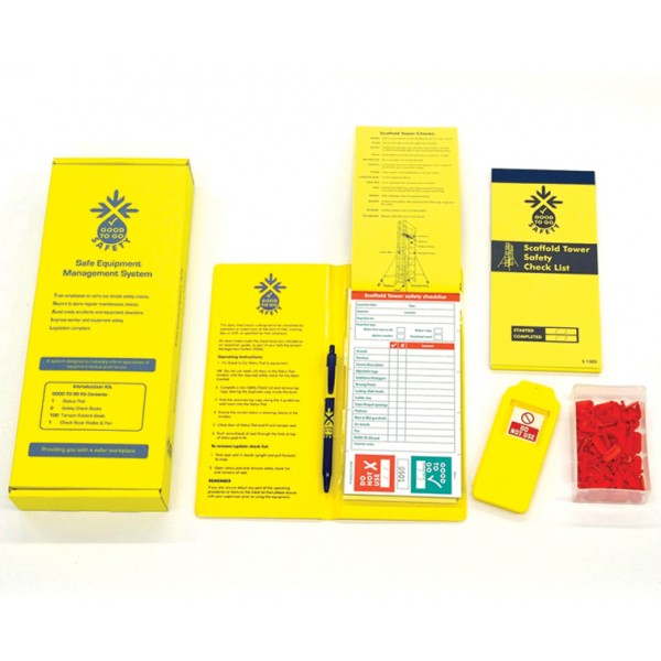 Good to Go Safety™ Scaffold Towers Annual (Weekly) Inspection Kits