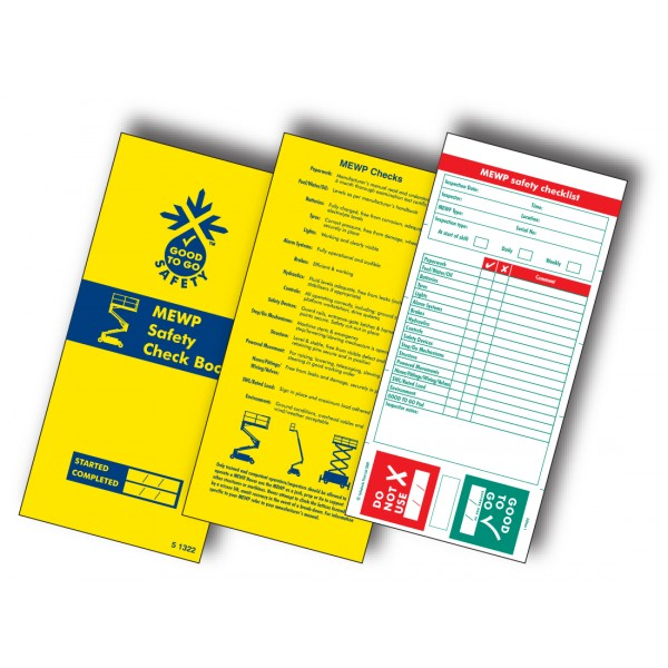 Good to Go Safety™ MEWP Check Book